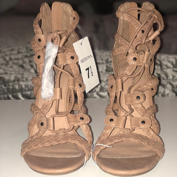 eb9a753429a Kolbi Braided Ghillie Heeled Gladiator Sandals